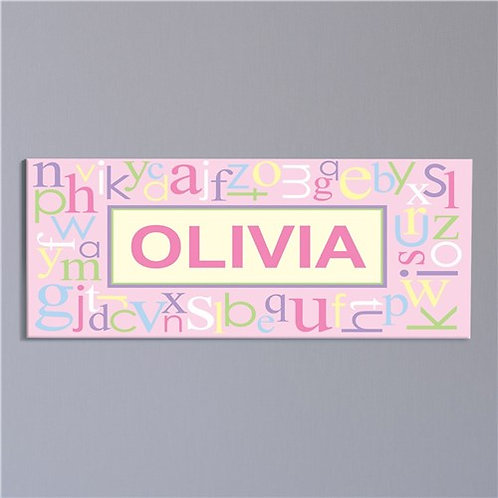 Pink Alphabet Canvas