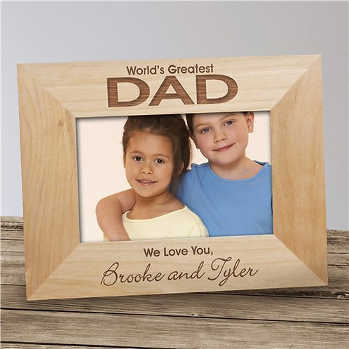 Engraved World's Greatest Dad Photo Frame