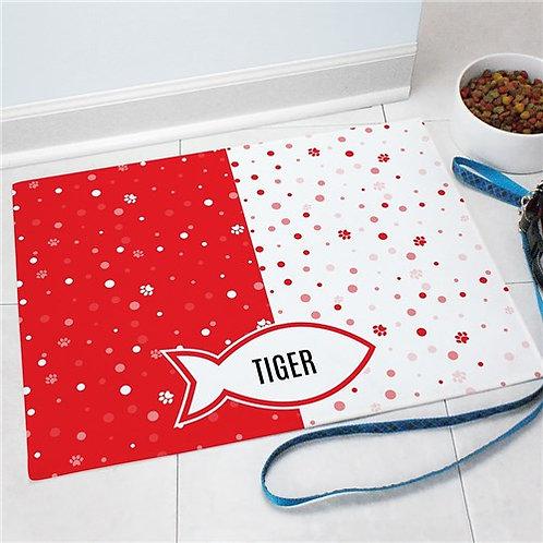 Personalized Fish Pet Mat