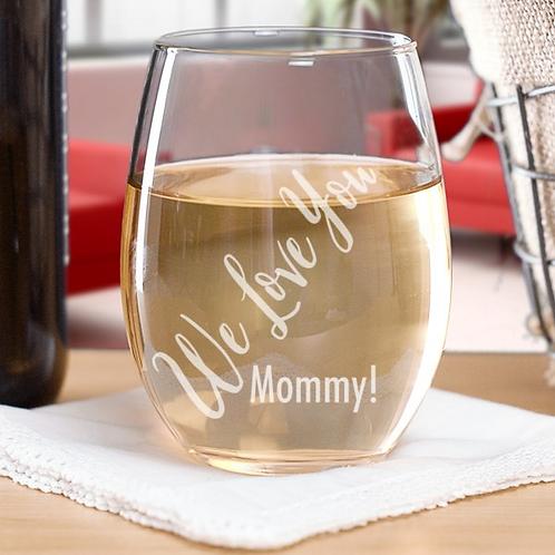 Personalized Fun Stemless Wine Glass