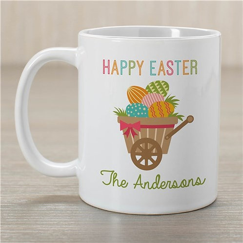 Personalized Happy Easter Wheelbarrow Mug