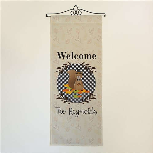 Personalized Welcome Squirrel Wall Hanging