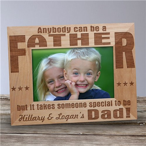 Dad Personalized Wood Frame