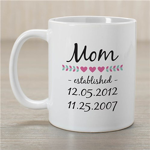 Personalized Mom Est. Coffee Mug