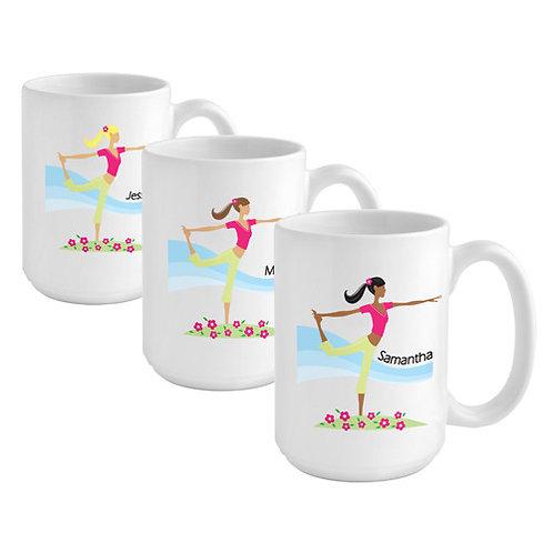 Personalized Go-Girl YOGA Coffee Mug