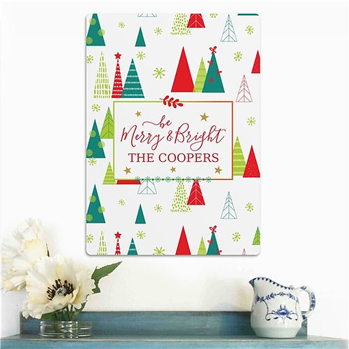 Personalized Be Merry & Bright Wall Sign