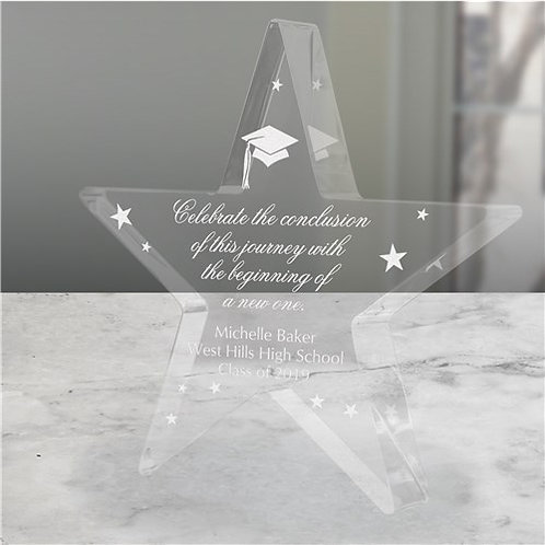 Personalized Graduation Acrylic Star Keepsake