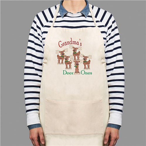 Personalized Reindeer Apron