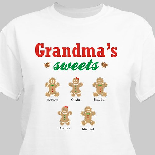Personalized Grandma's Sweeties T-Shirt