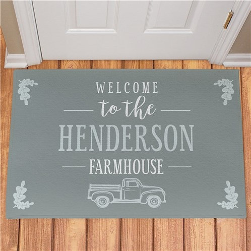 Personalized Welcome To The Farmhouse Truck Doormat
