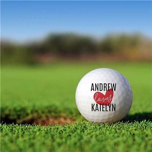 Personalized I Love Golf Ball Set