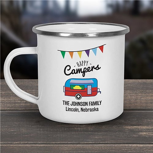 Happy Campers Personalized Camper Mug
