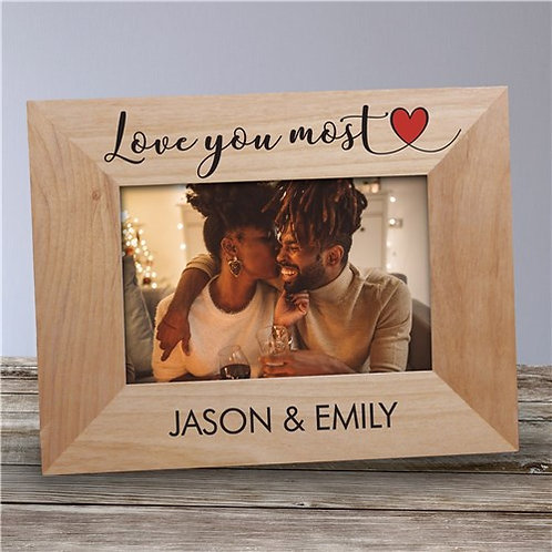 Personalized Love You Most Wood Frame
