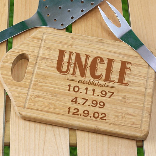 Established Dad Cutting Board with handle