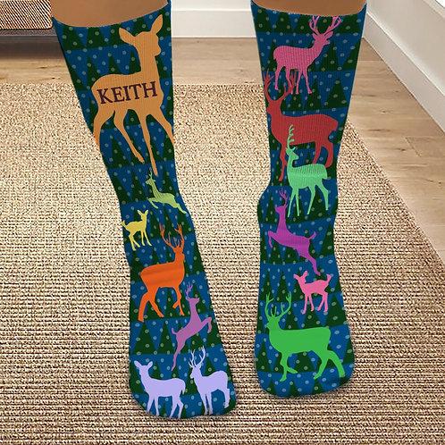 Personalized Reindeer Tube Socks