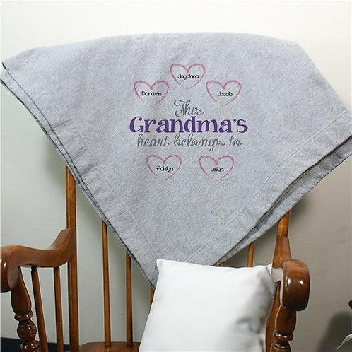 Personalized Heart Belongs To Fleece Blanket