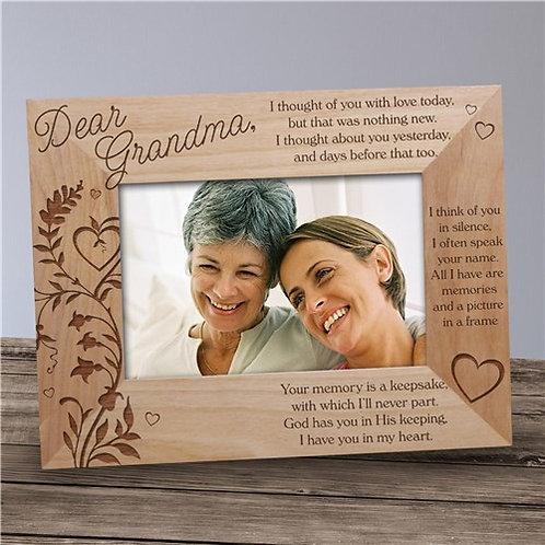 Engraved Memory Is A Keepsake Memorial Wood Picture Frame