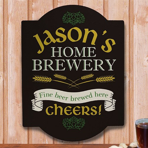 Home Brewery Personalized Wall Sign