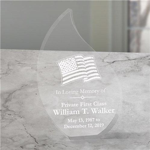 In Loving Memory Personalized Military Memorial Tear Keepsake