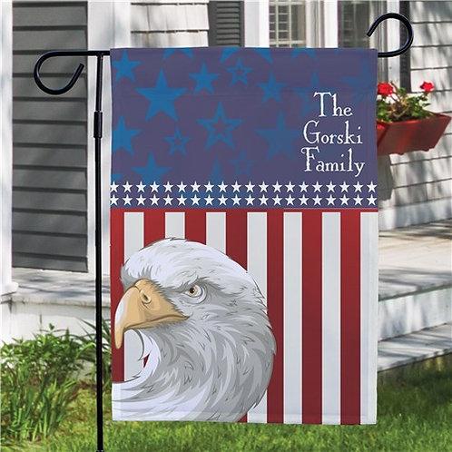 Personalized American Pride Garden Flag