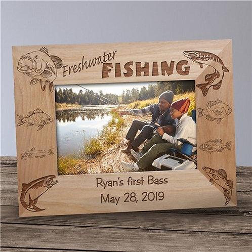 Freshwater Fishing Personalized Frame