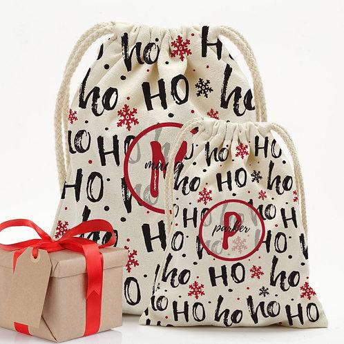 Custom Ho Ho Christmas Drawstring Sack