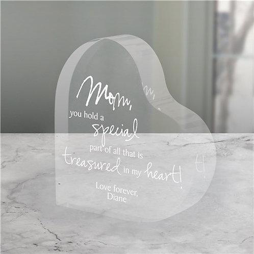 Engraved Treasured In My Heart Keepsake