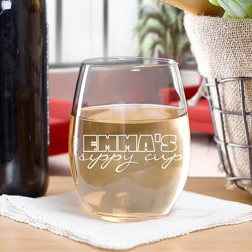 Sippy Cup Stemless Wine Glass