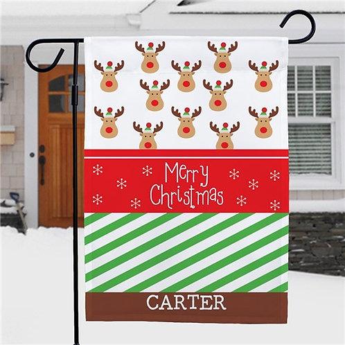Christmas Reindeer Garden Flag