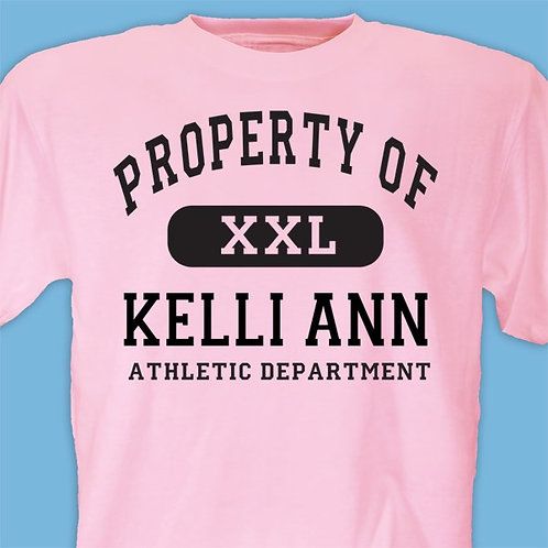 Personalized Property Of T-shirt- Kids