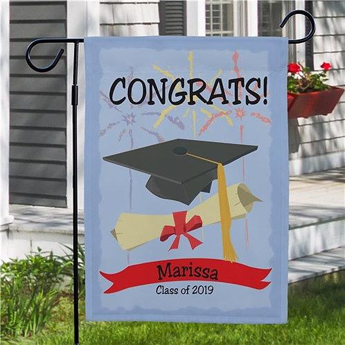 Graduation Congrats Personalized Garden Flag