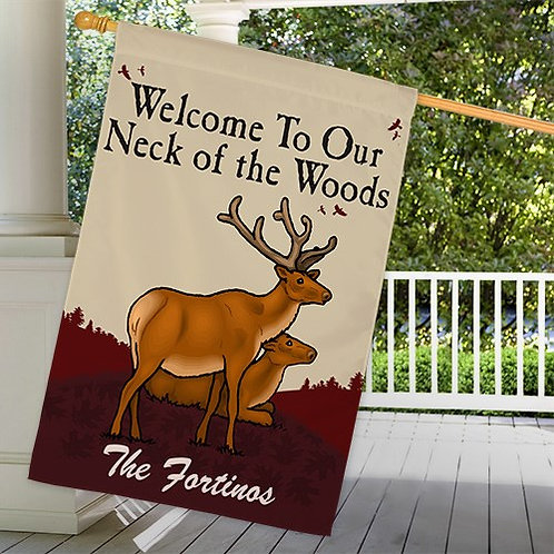 Personalized Neck of the Woods House Flag