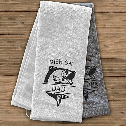 Personalized Fish on Dad Towel