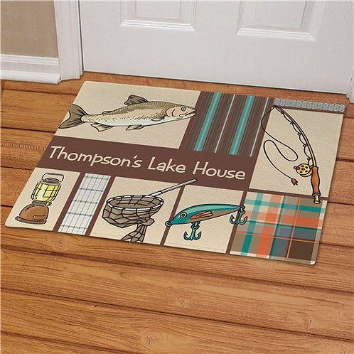 Personalized Fisherman's Welcome Doormat