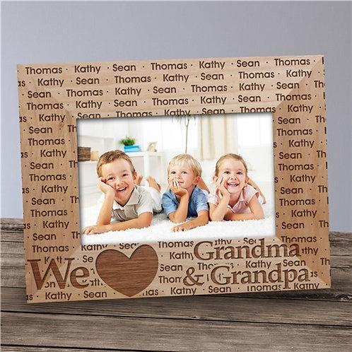 Personalized We Love Grandma & Grandpa Picture Frame