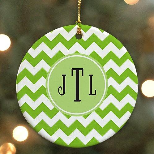 Monogram Madness Christmas Ornament