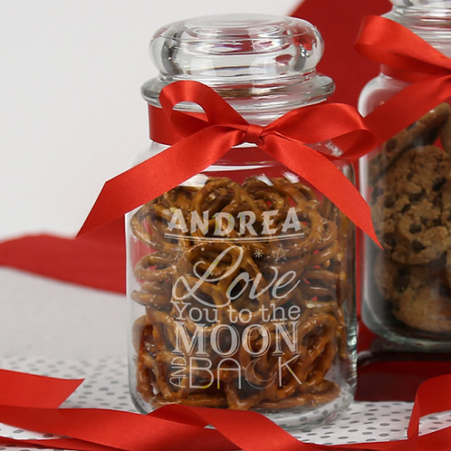 Personalized Be My Valentine Glass Jar