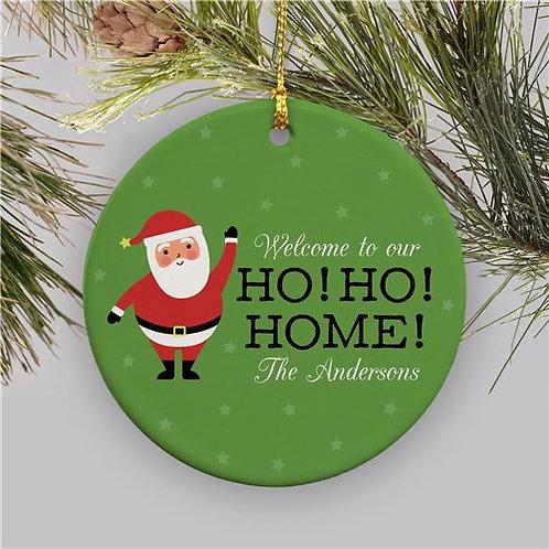 Personalized Ho Ho Home Ceramic Ornament