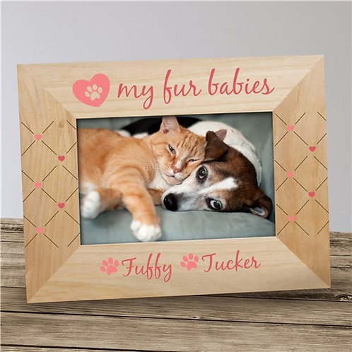 Personalized Heart My Fur Babies Frame