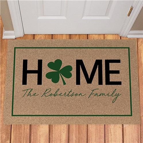 Personalized Home Shamrock Doormat