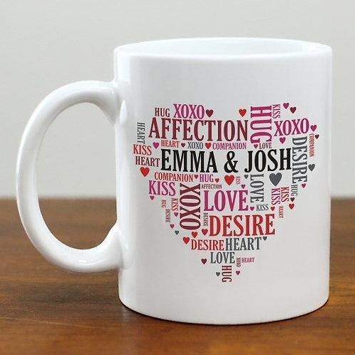 Couples Heart Mug