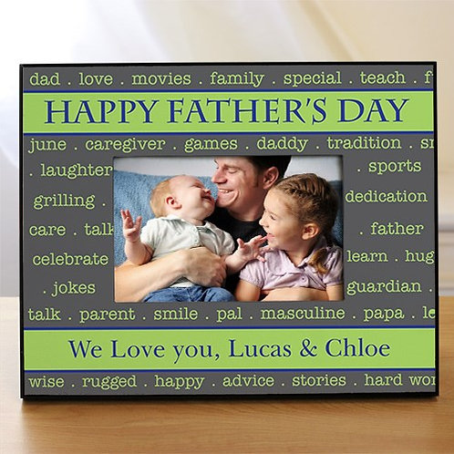 Personalized Printed Happy Father's Day Frame