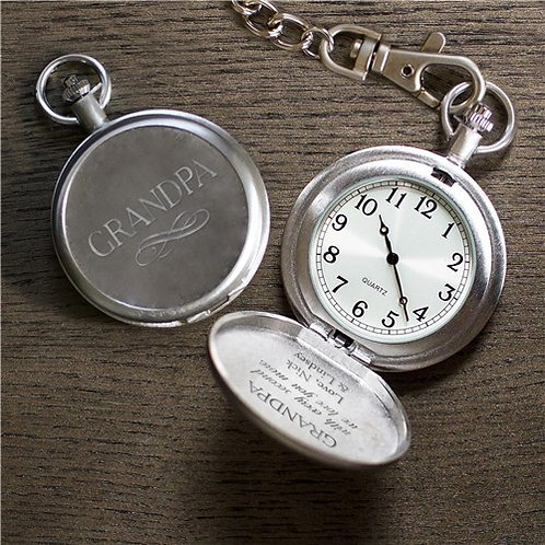Every Second We Love You More Pocket Watch