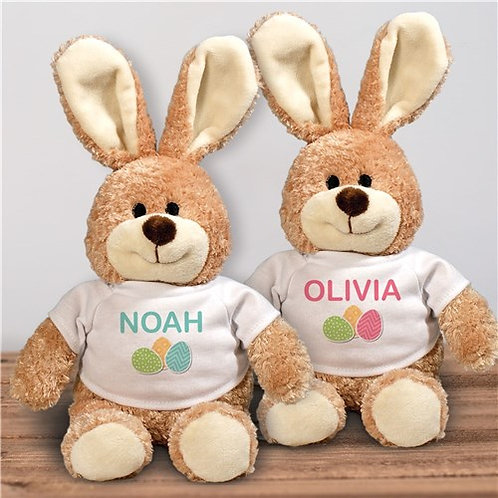 Personalized Easter Eggs Stuffed Bunny