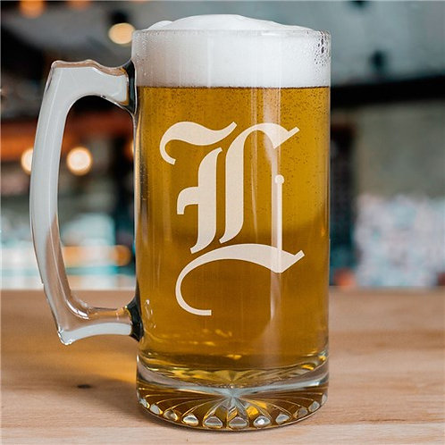 Monogrammed Initial Glass Mug