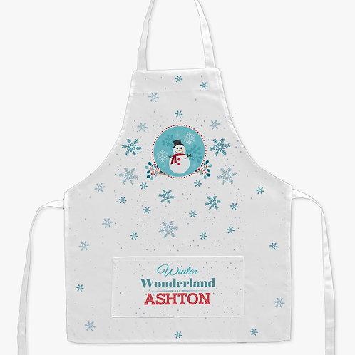 Kids Winter Wonderland Snowman Apron