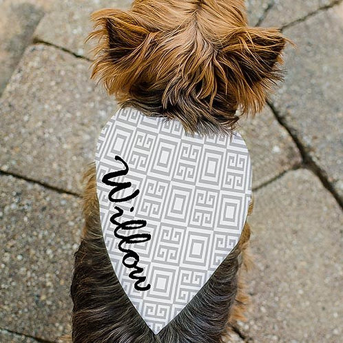 Personalized Square Pattern Pet Bandana