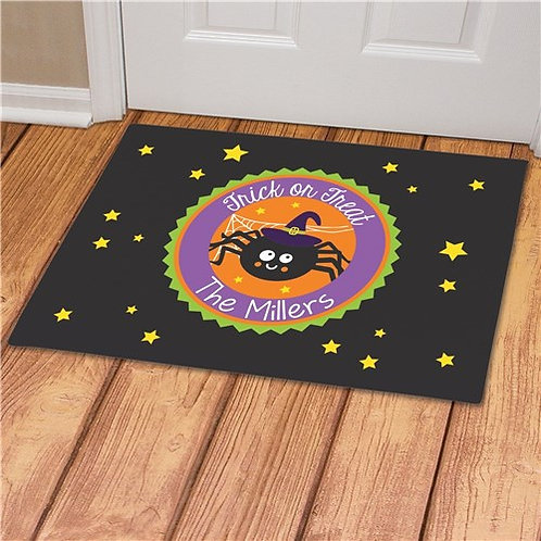Personalized Trick Or Treat Spider Doormat