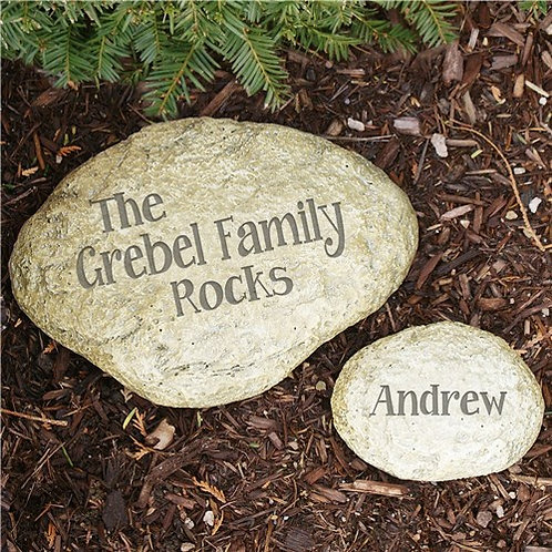 Family Rocks Engraved Yard Stones