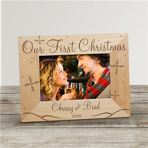 Our First Christmas Personalized Wood Frame
